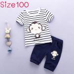 [Size100] ชุดเสื้อลายทางพร้อมกางเกง Monkey