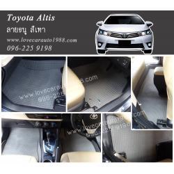ยางปูพื้นรถยนต์ Toyota Altis 2014 ลายธนู สีเทา