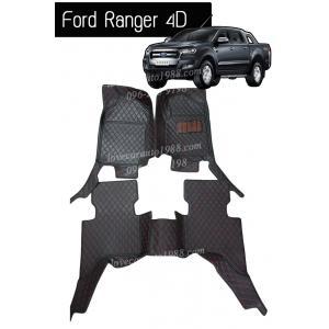 พรม 6D Ford ranger 4d สีดำด้ายแดง
