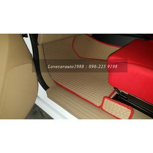 พรมรถยนต์ Isuzu D-max 4D 2017 ธนูน้ำตาลขอบแดง
