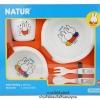 ชุดภาชนะใส่อาหารเด็กลายมิฟฟี่ Natur Baby feeding Ware Set
