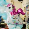 ลูกโป่งฟอร์ยรูปม้าสีขาว Happy birthday ขนาด 62x80 cm.