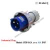 HTN 0131 ปลั๊กตัวผู้กลางทางกันน้ำ (2P+E) 16A / IP67