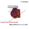 เต้ารับฝังตรงกันน้ำ HTN 4151 (5P) 16A ,380-415V ~, IP67 ,DAKO