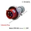 HTN 0251 ปลั๊กตัวผู้กลางทางกันน้ำ (3P+N+E) 32A IP67
