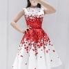set เสื้อและกระโปรงพิมพ์ลายดอกกุหลาบสีแดง สวยมากๆๆค่ะ