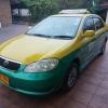 แท็กซี่เขียวเหลือง Limo NGV เหลือวิ่งอีก 20 วัน ปี 2005 หมดอายุ 27/1/2560