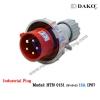 HTN 0151 ปลั๊กตัวผู้กลางทางกันน้ำ (3P+N+E) 16A IP67