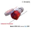 HTN 2151 ปลั๊กตัวเมียกลางทางกันน้ำ (3P+N+E) 16A IP67