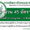 (เปิดสอบ)กรมพัฒนาสังคมและสวัสดิการ รับสมัครบรรจุเข้ารับราชการ 45 อัตรา ส่วนกลางและส่วนภูมิภาค สมัครทางอินเตอร์เน็ต20 กรกฎาคม 2560 ถึงวันที่ 10 สิงหาคม 2560