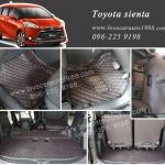 Toyota sienta พรม 6D สีดำด้ายแดง