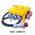 A24MD01-4 กล่องไฟสนาม ( 3P+N+E) 63A 400V