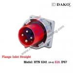 ปลั๊กตัวผู้ติดผนังฝังตรงกันน้ำ HTN 6341 (4P) 63A ,380-415V ~, IP67 ,DAKO