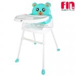 [สีเขียวมิ้นต์] Fin babiesplus เก้าอี้ทานข้าวสำหรับเด็กพี่หมี 3in1 รุ่น CAR-218