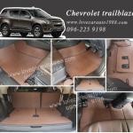 Chevrolet trailblazer ยางปูพื้นรถยนต์ลายสนุ๊กสีน้ำตาล
