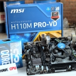 Intel Core i3-6100 2Core 4Thread 3.7Ghz + MSI H110 PRO VD