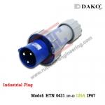 HTN 0431 ปลั๊กตัวผู้กลางทางกันน้ำ (2P+E) 125A / IP67