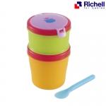 ชุดถ้วย 2 ชั้นแบบพกพาพร้อมเจลเย็น Richell Baby's Lunch Box-cool