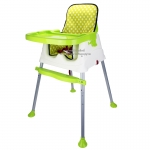 [สีเขียว] เก้าอี้ทานข้าวสำหรับเด็ก3in1 พร้อมผ้ารองนั่ง (7เดือนขึ้นไป)