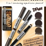Sivanna colors brows secret 3in1 Amazing eyebrow pencil DP024 ซีเวียน่า คัลเลอร์ส บราวส์ ซีเคล็ด 3อิน1 อเมซี้ง เพนซิล