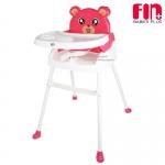 [สีชมพู] Fin babiesplus เก้าอี้ทานข้าวสำหรับเด็กพี่หมี 3in1 รุ่น CAR-218