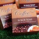 สบู่สครับกาแฟขมิ้น Coffee curcuma surub soap By Noomham สบู่ทำความสะอาดผิวหน้าและผิวกาย ช่วยให้ผิวนุ่ม ไม่แห้งกร้าน ทำให้ผิวกระจ่างใสขึ้น