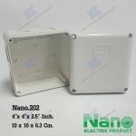 """กล่องพลาสติกกันน้ำ Nano.202 (4""""x4""""x2.5"""")"""