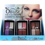 Obuse For 4 Eyeshadow OB-1296 อายชาโดว์พาเล็ต 4 สีในตลับเดียว