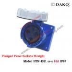 เต้ารับฝังตรงกันน้ำ HTN 4331 (3P) 63A ,220-250V ~, IP67 ,DAKO