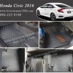 Honda Civic2016 พรม 6D สีดำด้ายฟ้า