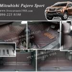 Mitsubishi Pajero Sport 6D สีดำด้ายแดง