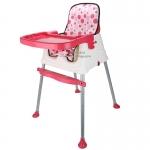 [สีชมพู] เก้าอี้ทานข้าวสำหรับเด็ก3in1 พร้อมผ้ารองนั่ง (7เดือนขึ้นไป)