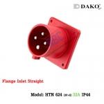 ปลั๊กตัวผู้ติดผนังฝังตรง HTN 624 (4P) 32A ,380-415V ~, IP44 ,DAKO