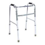 อุปกรณ์ช่วยหัดเดิน อลูมิเนียมวอล์คเกอร์ walker อุปกรณ์พยุงร่างกาย แบบพับได้ Easy4u รุ่น Y812L สีเทา