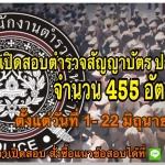 เปิดสอบตำรวจสัญญาบัตร ประจำปี 2561 จำนวน 455 อัตรา รับสมัครทางอินเทอร์เน็ต ตั้งแต่วันที่ 1 – 22 มิถุนายน 2561