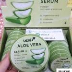 aloe vera sakura serum powder soothing & moisture แป้งพัฟ อโล เวร่า เซรั่ม พาวเดอร์