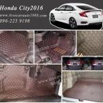 Honda City 2016 พรม 6D สีดำด้ายแดง