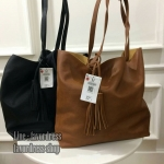 BERSKA soft faux leather tote bag