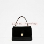 ZARA CITY BAG WITH SPLIT SUEDE FLAP AND