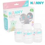 [แพ็ค3ขวด][4oz] Nanny ขวดเก็บน้ำนมแม่ Breast Milk Storage Bottles Set