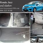 พรมปูพื้นรถยนต์ Honda Jazz 2014 ไวนิลสีเทา