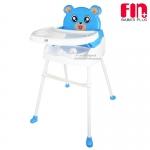 [สีฟ้า] Fin babiesplus เก้าอี้ทานข้าวสำหรับเด็กพี่หมี 3in1 รุ่น CAR-218