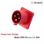 ปลั๊กตัวผู้ติดผนังฝังตรง HTN 614 (4P) 16A ,380-415V ~, IP44 ,DAKO