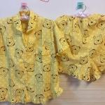 ชุดนอนลายหมีพู + เสื้อและกางเกง ขนาดฟรีไซส์