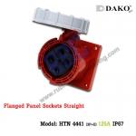 เต้ารับฝังตรงกันน้ำ HTN 4441 (4P) 125A ,380-415V ~, IP67 ,DAKO