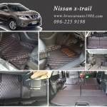 Nissan x-trail พรม 6D สีดำด้ายแดง (7ที่นั่ง)