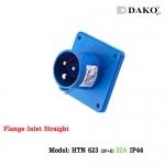 ปลั๊กตัวผู้ติดผนังฝังตรง HTN 623 (3P) 32A ,220-250V ~, IP44 ,DAKO
