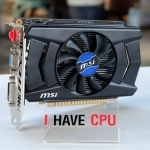 MSI GTX 750 Ti 2GB Overclocked Edition GDDR5