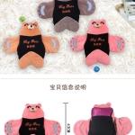 กระเป๋าน้ําร้อนไฟฟ้า Y420-2 หมีนอนกางแขน สีชมพู