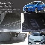 พรมปูพื้นรถยนต์ Honda City ไวนิล สีดำ